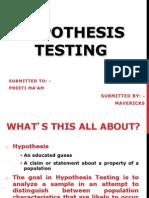 Hypothesis Testing - MR