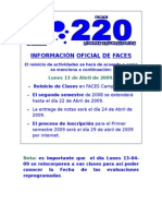 INFORMACIÓN DE FACES