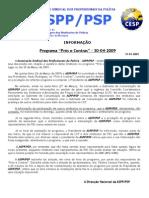 Pros e Contras - Comunicado Presidente ASPP-PSP