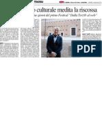 Il Giornalismo Culturale medita la riscossa - Il Resto del Carlino del 3 maggio 2013