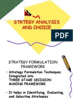 Strtegy Analysis and Choice