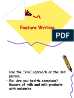 Feature Writing Campus Journ