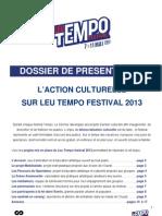 Dossier de presentation - Action culturelle Leu Tempo 2013.pdf