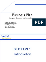 How to write a Business Plan - Template