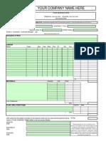 Daywork Sheet