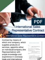 INTERNATIONAL SALES REPRESENTATIVE CONTRACT