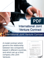 INTERNATIONAL JOINT VENTURE CONTRACT