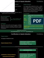 Certification in Equity Valuation - March 2013
