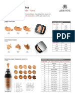 Arbonne Cosmetics Shade Guide - Face