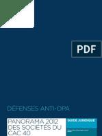 Panorama 2012 des défenses anti-OPA au sein des sociétés du CAC 40