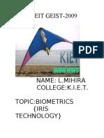 Biometrics Iris Technology