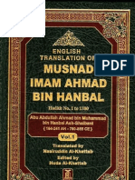 Musnad Ahmad Bin Hanbal, Arabic -English Translation-Volume 1