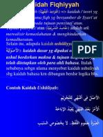 KAIDAH FIQHIYYAH
