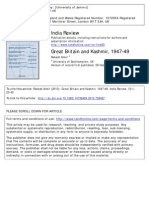 Great Britain and Kashmir, 1947-49