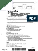 2013 jan unit 5 Chemistry a level edexcel