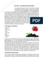 Antioxidantii - Arma Impotriva Imbatranirii