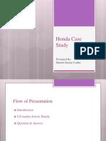 Honda Case Study
