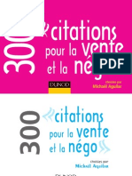 300 Citations Pour La Vente Et La Negociation