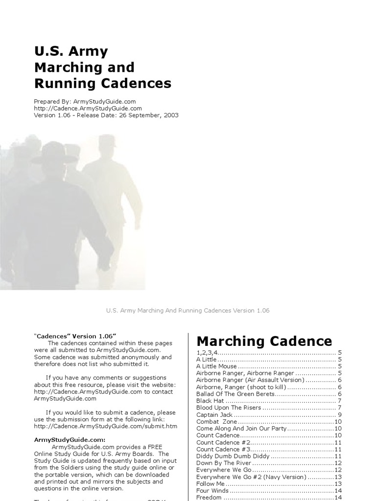 The army study guide pdf.
