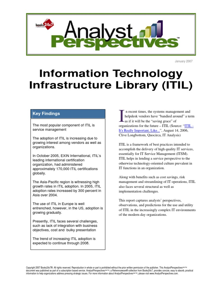 Information technology infrastructure library itil3831 itil it information technology infrastructure library itil3831 itil it service management xflitez Choice Image