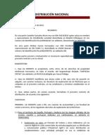 CONTRATO DE DISTRIBUCIÓN NACIONAL
