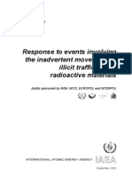 Response to Events Involving the Inadvertent Movement of Illicit Trafficiking