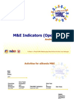 Ave Mejia - Presentation on M&E Indicators