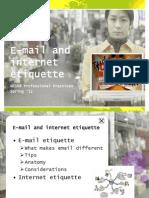 E-Mail and Internet Etiquettes