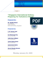 CASE ANALYSIS HRM 380 (TuA) - Singapore International Airlines