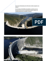 A represa da usina hidrelétrica Sayano