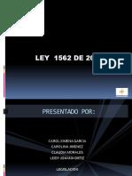 Ley 1562 de 2012 Presentacion