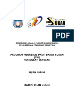 Manual TID (Program Talent Identification) Sekolah