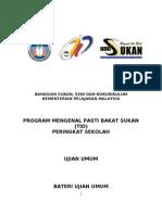 Manual TID (Program Talent Identification) Sekolah