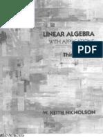 Linear Algebra With Applications 3rd Edition - Nicholson, W. Keith