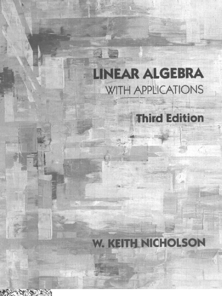 Linear algebra with applications 3rd edition nicholson w keith fandeluxe Choice Image