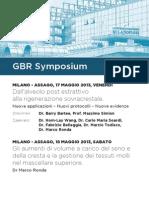 Gbr Symposium 17-18 Maggio 2013 Milano