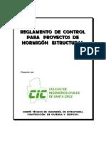 Reglamento de control para proyectos de hormigón