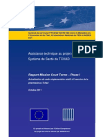 Rapport Mission Court Terme – Phase I Actualisation du cadre réglementaire relatif à l'exercice de la pharmacie au Tchad (Octobre 2011)