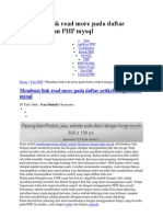 Membuat Link Read More Pada Daftar Artikel Dengan PHP Mysql