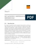 Ecuaciones y Sistemas en Diferencia