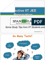 Tips on IIT JEE Preparation