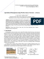 Agricultural Management Using Wireless Sensor Networks - A Survey
