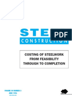 Costing of Steelwork From Feasibility Through to Completion 1996 - Australian Institute of Steel Construction