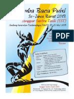 Antologi Lomba Baca Puisi SST Se-Jawa Barat 2013