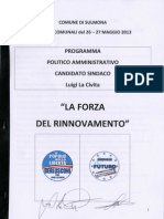 Programma candidato sindaco Luigi La Civita