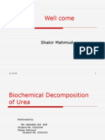 Biochemical decomposition of Urea Thesis