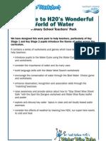 H2O WorkSheets