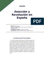 Reacción y Revolución en España