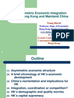 The Asymmetric Economic Integration between Hong Kong and Mainland China