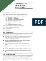 g & d Assessment, Growth Chart